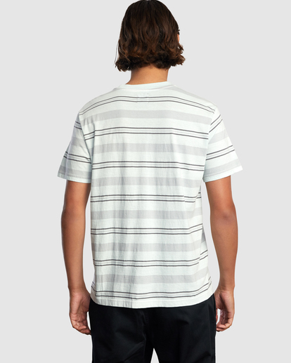 2 Travelers Stripe Short Sleeve Tee Green AVYKT00168 RVCA