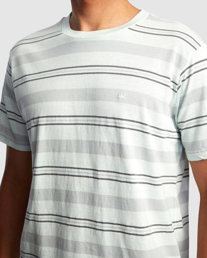 3 Travelers Stripe Short Sleeve Tee Green AVYKT00168 RVCA