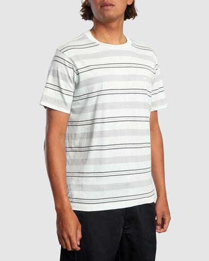 7 Travelers Stripe Short Sleeve Tee Green AVYKT00168 RVCA