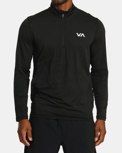 0 VA Sport | Sport Vent Long Sleeve Half-Zip Jacket Black AVYKT00169 RVCA
