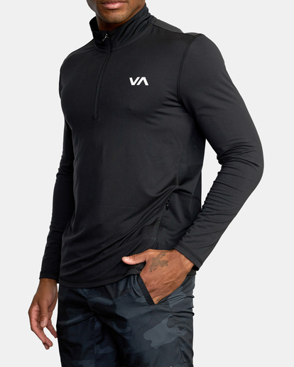 2 VA Sport | Sport Vent Long Sleeve Half-Zip Jacket Black AVYKT00169 RVCA