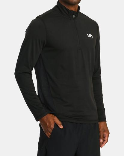3 VA Sport | Sport Vent Long Sleeve Half-Zip Jacket Black AVYKT00169 RVCA