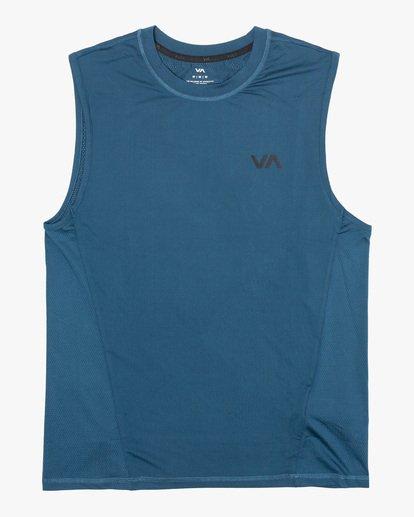 0 VA Sport | Sport Vent Workout Muscle Tank Top Blue AVYKT00170 RVCA