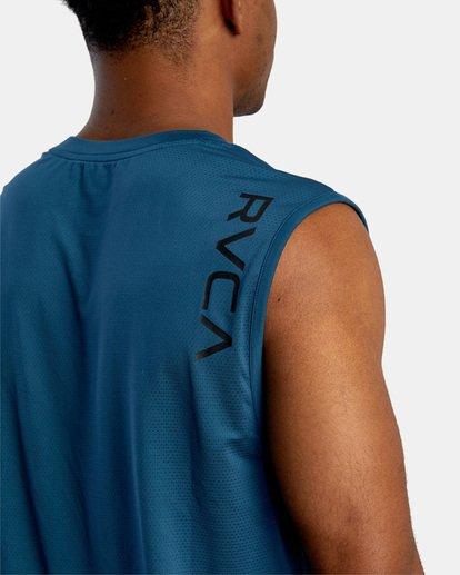 7 VA Sport | Sport Vent Workout Muscle Tank Top Blue AVYKT00170 RVCA
