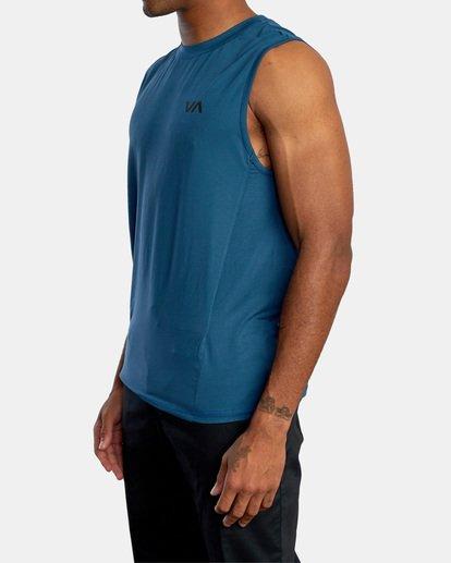 4 VA Sport | Sport Vent Workout Muscle Tank Top Blue AVYKT00170 RVCA