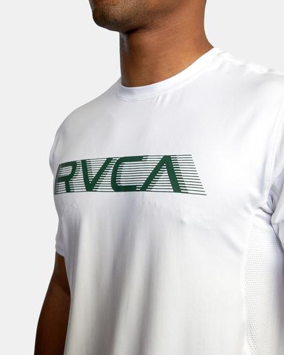 4 VA Sport | Sport Vent Big RVCA Speed Performance Workout Shirt White AVYKT00180 RVCA