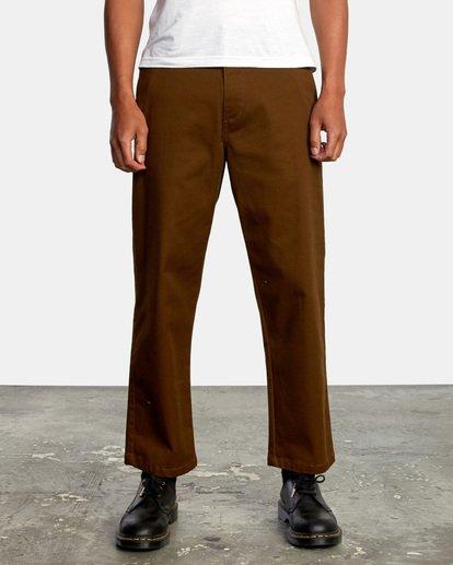 1 Kevin Spanky Long   Spanky Okapi Cropped Pants. Black AVYNP00117 RVCA