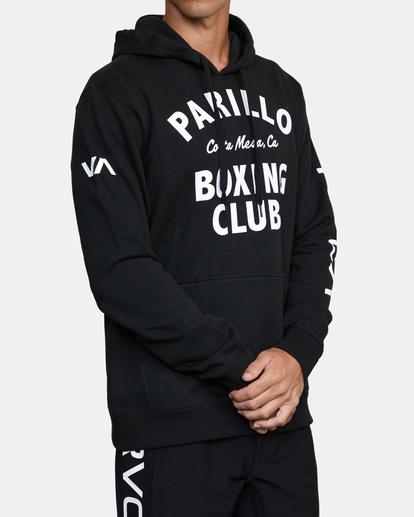 4 Parillo Boxing Club Pullover Sweatshirt Black AVYSF00105 RVCA