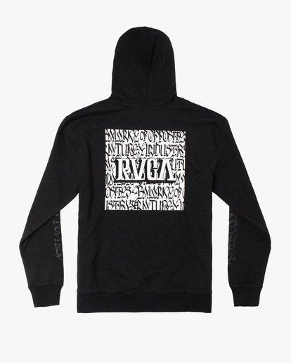 1 Defer   Block Fleece Hoodie Black AVYSF00122 RVCA