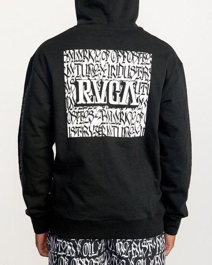 3 Defer   Block Fleece Hoodie Black AVYSF00122 RVCA