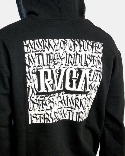 7 Defer   Block Fleece Hoodie Black AVYSF00122 RVCA