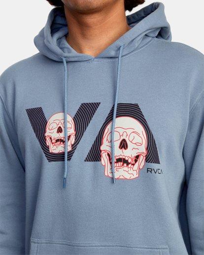 3 Skully D Hoodie Grey AVYSF00131 RVCA