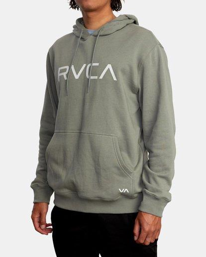 4 Big RVCA Hoodie Green AVYSF00143 RVCA