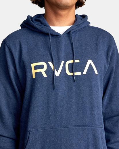 3 Big RVCA Hoodie Blue AVYSF00143 RVCA