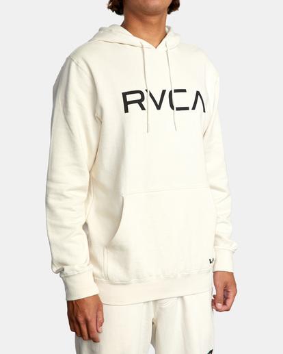 5 Big RVCA Hoodie Silver AVYSF00143 RVCA