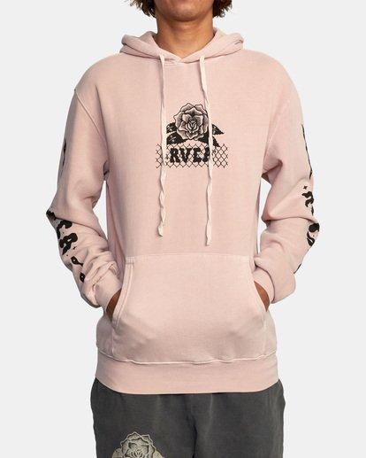 2 Jesse Brown Hoodie Grey AVYSF00145 RVCA