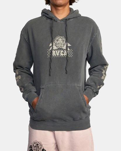2 Jesse Brown Hoodie Black AVYSF00145 RVCA