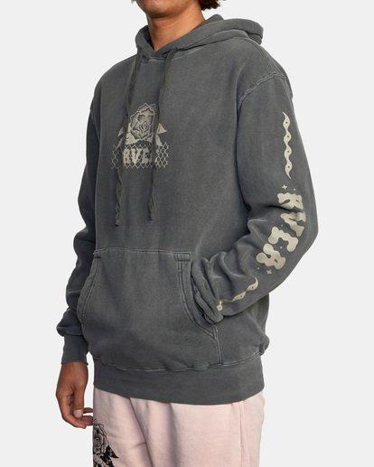 5 Jesse Brown Hoodie Black AVYSF00145 RVCA