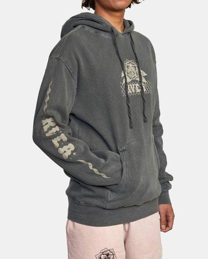 6 Jesse Brown Hoodie Black AVYSF00145 RVCA
