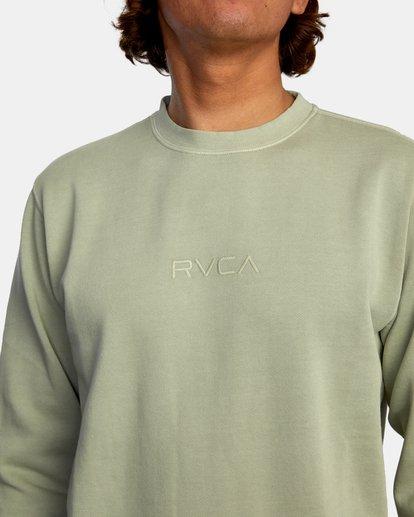 2 Tonally Crewneck Sweatshirt Green AVYSF00153 RVCA