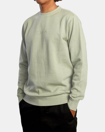 3 Tonally Crewneck Sweatshirt Green AVYSF00153 RVCA