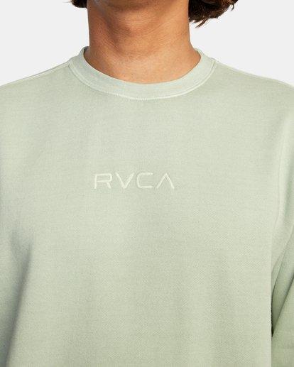5 Tonally Crewneck Sweatshirt Green AVYSF00153 RVCA