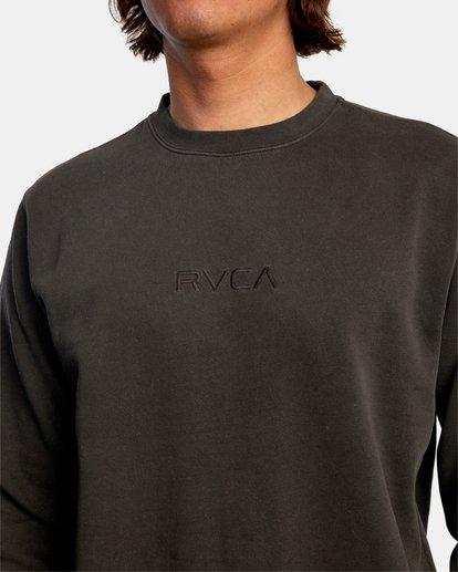 2 Tonally Crewneck Sweatshirt Black AVYSF00153 RVCA