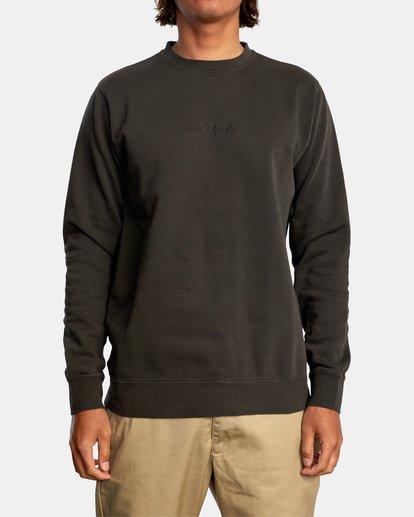 0 Tonally Crewneck Sweatshirt Black AVYSF00153 RVCA