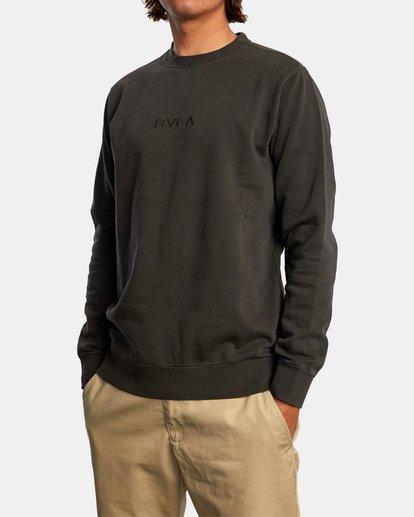 3 Tonally Crewneck Sweatshirt Black AVYSF00153 RVCA