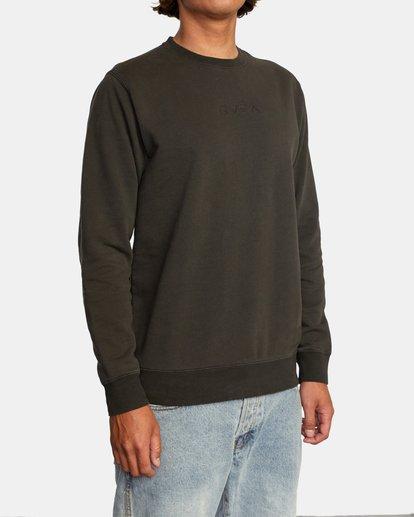 5 Tonally Crewneck Sweatshirt Black AVYSF00153 RVCA