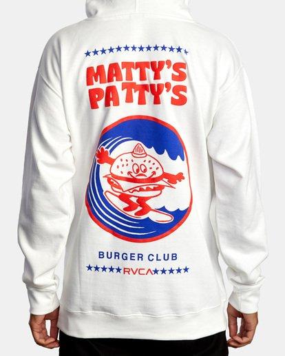 1 Matty Matheson | Matty's Patty's Burger Club Hoodie White AVYSF00177 RVCA
