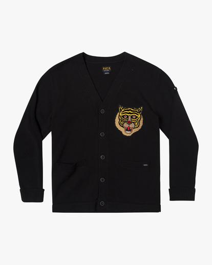 0 Matt Leines | Leines Varsity Cardigan Sweater Orange AVYSW00113 RVCA