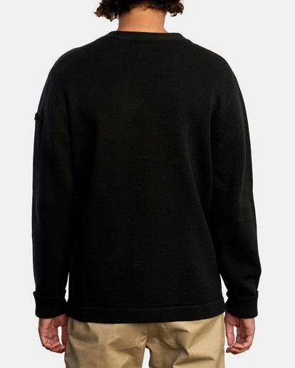 2 Matt Leines | Leines Varsity Cardigan Sweater Orange AVYSW00113 RVCA