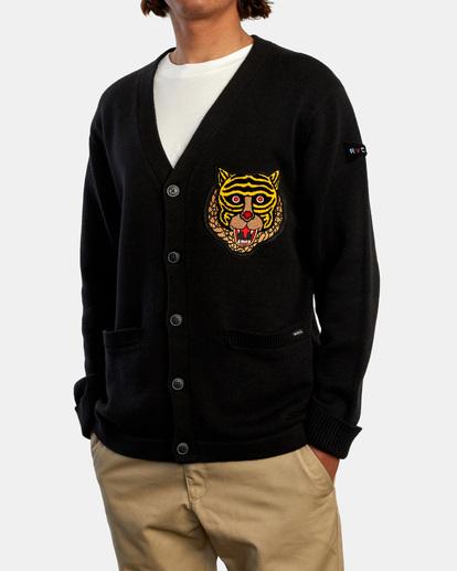 4 Matt Leines | Leines Varsity Cardigan Sweater Orange AVYSW00113 RVCA