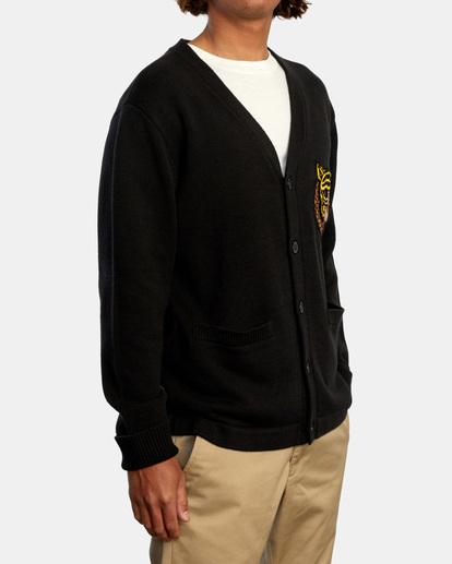 5 Matt Leines | Leines Varsity Cardigan Sweater Orange AVYSW00113 RVCA