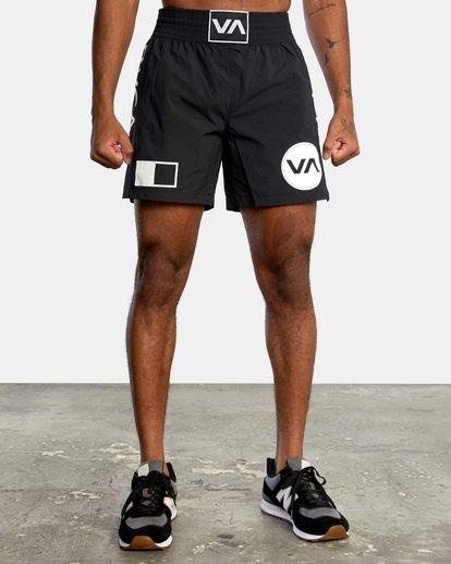 "1 Thai Training Workout Shorts 18"" Black AVYWS00125 RVCA"