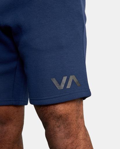 """2 VA SPORT IV SWEAT SHORT 19"""" Blue AVYWS00135 RVCA"""