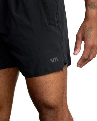 "6 YOGGER 15"" STRETCH SPORT SHORT Black AVYWS00140 RVCA"