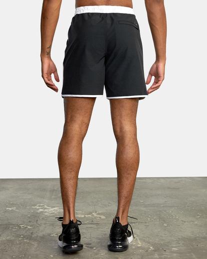 "1 Yogger Hybrid Athletic Shorts 17"" Black AVYWS00144 RVCA"