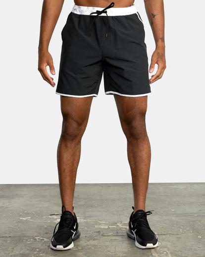 "0 Yogger Hybrid Athletic Shorts 17"" Black AVYWS00144 RVCA"