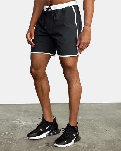"3 Yogger Hybrid Athletic Shorts 17"" Black AVYWS00144 RVCA"