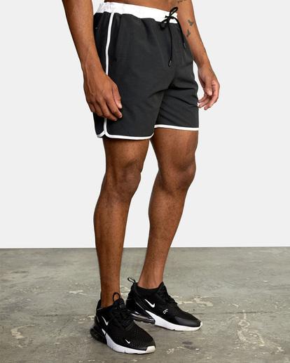 "4 Yogger Hybrid Athletic Shorts 17"" Black AVYWS00144 RVCA"