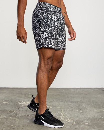 "6 Defer | VA Sport Yogger Stretch Athletic Shorts 17"" White AVYWS00145 RVCA"