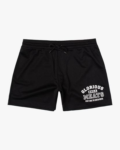 "0 Matty Matheson | Matty Mesh Elastic Shorts 16"" Black AVYWS00146 RVCA"