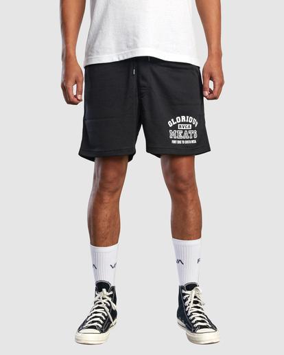 "1 Matty Matheson | Matty Mesh Elastic Shorts 16"" Black AVYWS00146 RVCA"