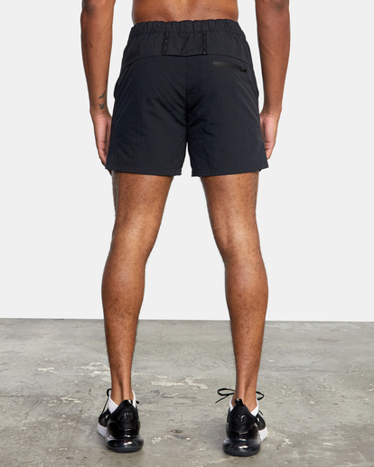 "1 Outsider Packable Elastic Shorts 17"" Black AVYWS00147 RVCA"