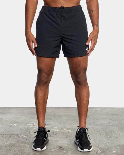 "0 Outsider Packable Elastic Shorts 17"" Black AVYWS00147 RVCA"