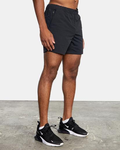 "5 Outsider Packable Elastic Shorts 17"" Black AVYWS00147 RVCA"