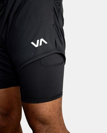 """10 Sport Vent Running Shorts 15"""" Black AVYWS00148 RVCA"""