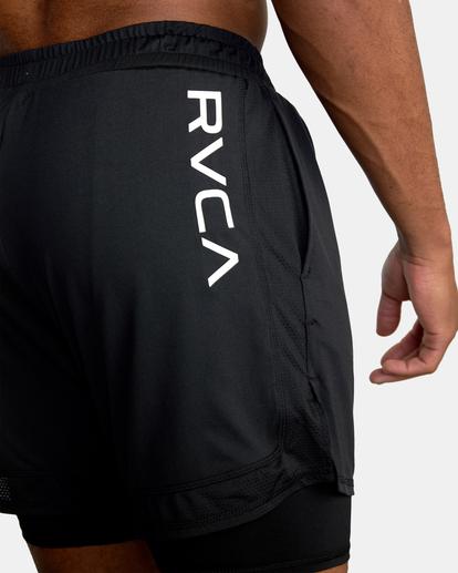 """11 Sport Vent Running Shorts 15"""" Black AVYWS00148 RVCA"""